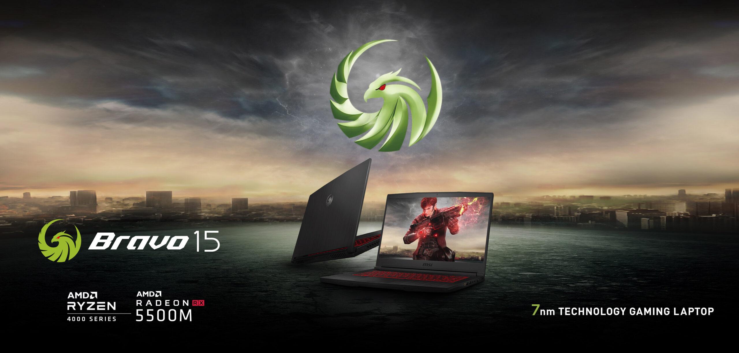MSI Bravo 15: laptop gaming fullset AMD Ryzen 5 4600H, Radeon 5300M, giá 20,5 triệu - GVN360